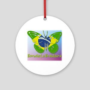 Borboleta Brasileira Ornament (Round)