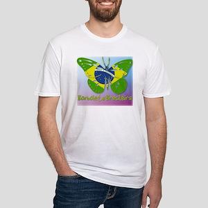 Borboleta Brasileira Fitted T-Shirt