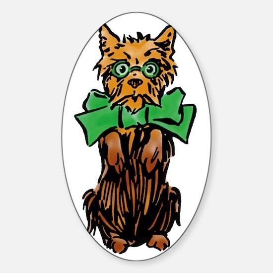 Vintage Wizard of Oz, Toto Sticker (Oval)