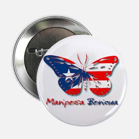 Mariposa Boricua Button