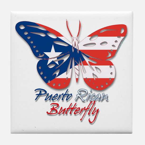 Puerto Rican Butterfly Tile Coaster
