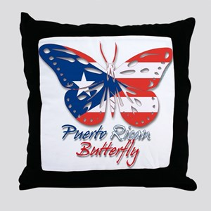 Puerto Rican Butterfly Throw Pillow