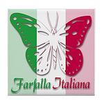 Farfalla Italiana Tile Coaster