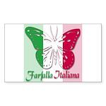 Farfalla Italiana Rectangle Sticker