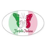 Farfalla Italiana Oval Sticker