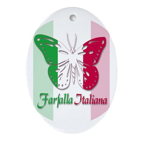 Farfalla Italiana Oval Ornament