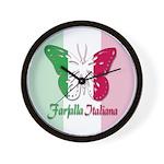 Farfalla Italiana Wall Clock