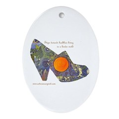 artsciencespirit shoe Oval Ornament