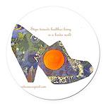 artsciencespirit shoe Round Car Magnet