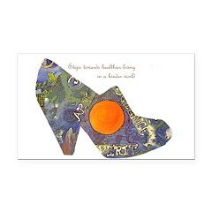 artsciencespirit shoe Rectangle Car Magnet