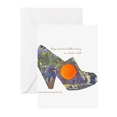 artsciencespirit shoe Greeting Cards