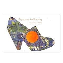 artsciencespirit shoe Postcards (Package of 8)
