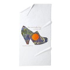 artsciencespirit shoe Beach Towel