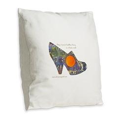 artsciencespirit shoe Burlap Throw Pillow