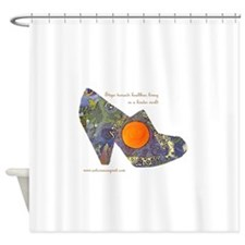 artsciencespirit shoe Shower Curtain