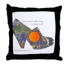 artsciencespirit shoe Throw Pillow
