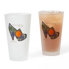 artsciencespirit shoe Drinking Glass