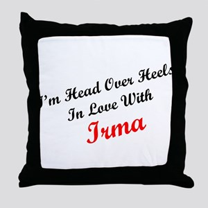 In Love with Irma Throw Pillow