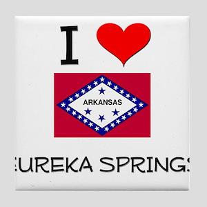 I Love EUREKA SPRINGS Arkansas Tile Coaster