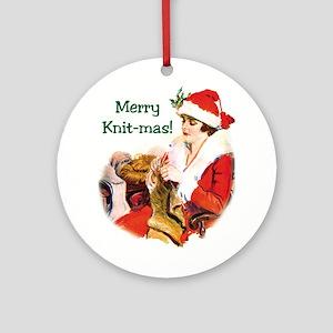 Merry Knit-mas Ornament (Round)