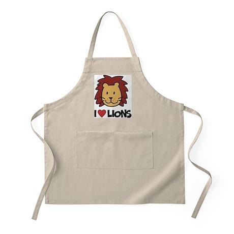 I Love Lions BBQ Apron