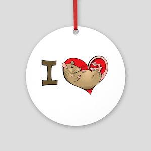 I heart rats (tan) Ornament (Round)