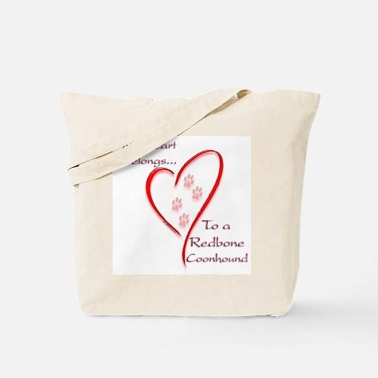 Redbone Heart Belongs Tote Bag