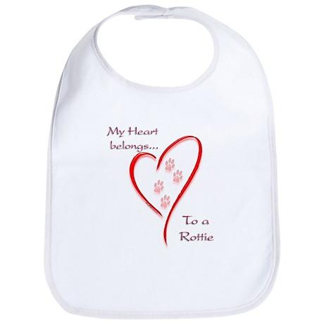 Rottweiler Heart Belongs Bib