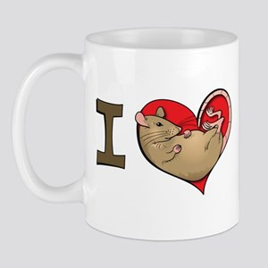 I heart rats (grey and tan) Mug