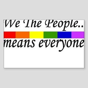 we the people Rectangle Sticker 10 pk) Sticker