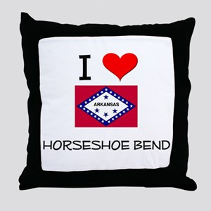 I Love HORSESHOE BEND Arkansas Throw Pillow