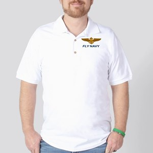 Naval Aviator Wings Fly Navy Golf Shirt