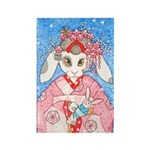 Maiko Bunny Rectangle Magnet