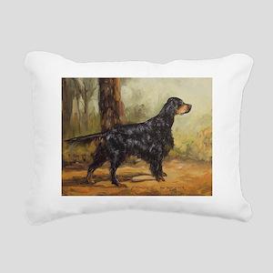 Gordon Setter Rectangular Canvas Pillow