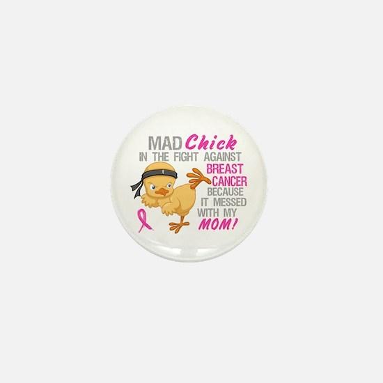 Mad Chick 3L Breast Cancer Mini Button