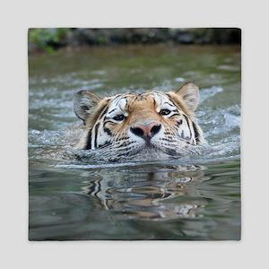 Tiger005 Queen Duvet