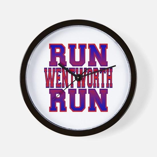 Run Wentworth Run Wall Clock