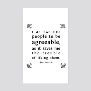 Agreeable People Rectangle Sticker