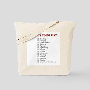 Hockey To-Do List Tote Bag