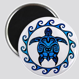 Maori Tribal Blue Turtle Magnets
