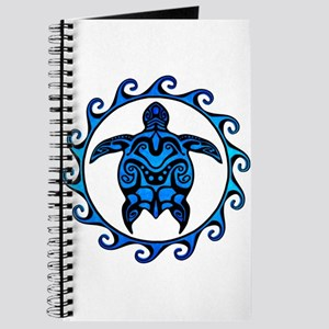 Maori Tribal Blue Turtle Journal
