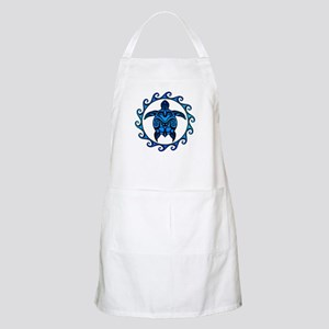 Maori Tribal Blue Turtle Apron
