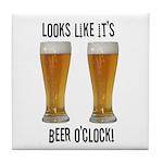 Beer o'clock Tile Coaster