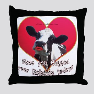 Cows Need Love Throw Pillow