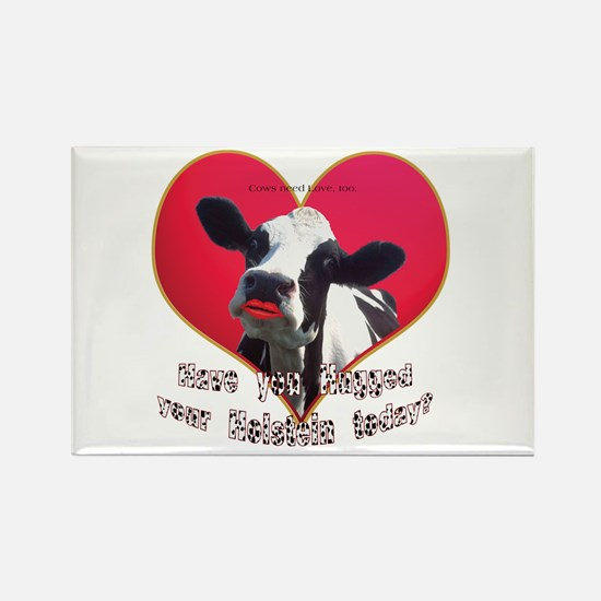 Cows Need Love Rectangle Magnet