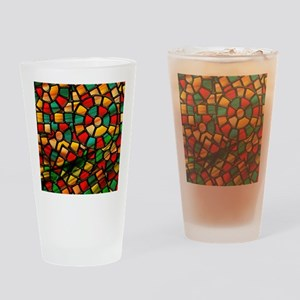 colorful stained glass Drinking Glass