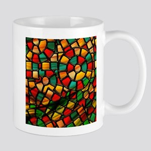 colorful stained glass Mugs