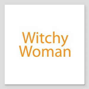 "Witchy Woman Square Car Magnet 3"" x 3"""