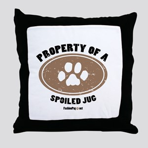 Jug dog Throw Pillow