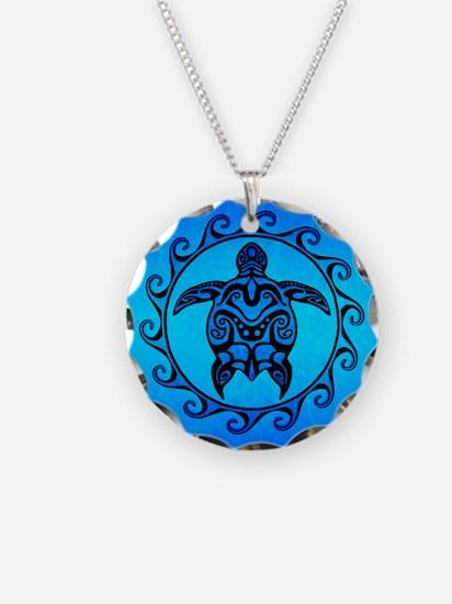 Maori Ocean Blue Turtle Necklace